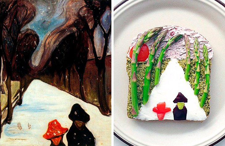 15 великих картин, які намалювали на бутербродах і з'їли - фото 14