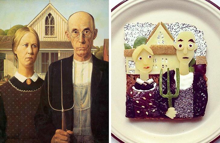 15 великих картин, які намалювали на бутербродах і з'їли - фото 1