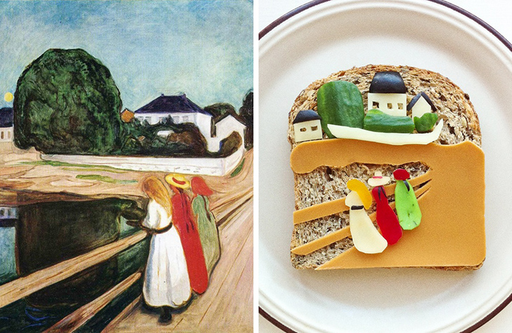 15 великих картин, які намалювали на бутербродах і з'їли - фото 4