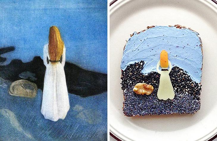 15 великих картин, які намалювали на бутербродах і з'їли - фото 12