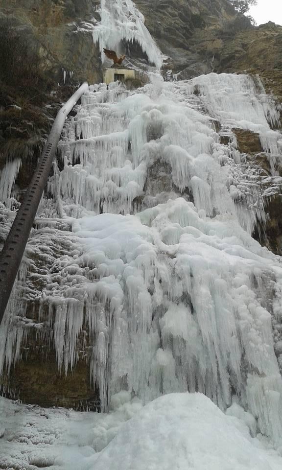В окупованому Криму замерз навіть водоспад - фото 1