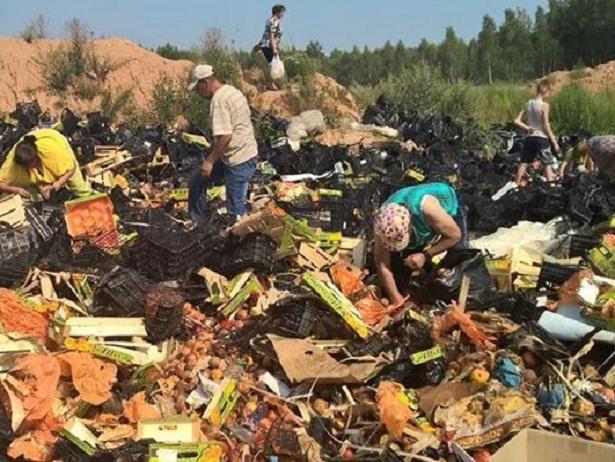 Росіяни шукають серед сміття недочавлені санкційні продукти  - фото 3
