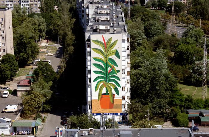 Agostino Iacurci прикрасив дев'ятиповерхівку Києва своїм муралом  - фото 2