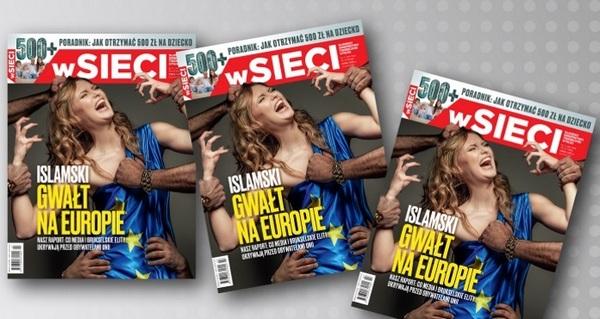 Польський журнал показав, як мігранти гвалтують Європу - фото 1