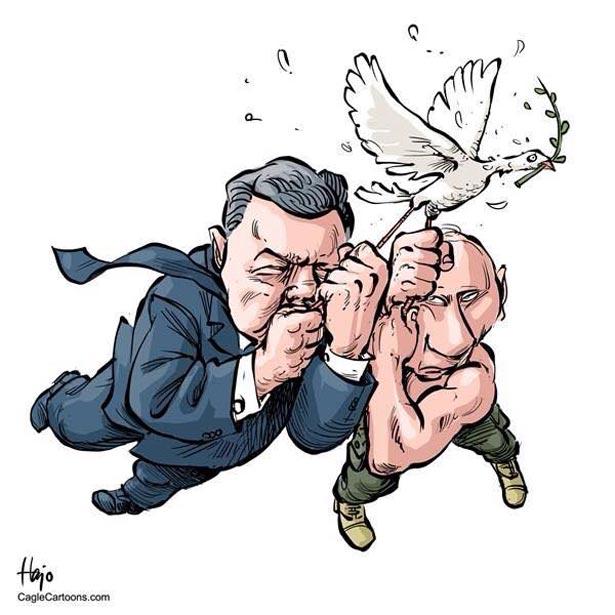 Порошенко-Путін. Президенти різні - піарщикі однакові (ФОТОЖАБИ) - фото 5