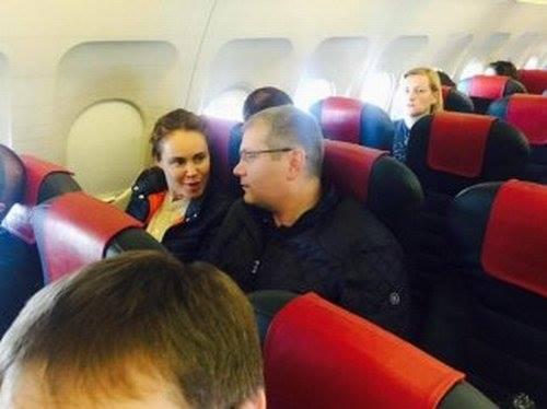 Вілкула з Королевською застукали в літаку - фото 1