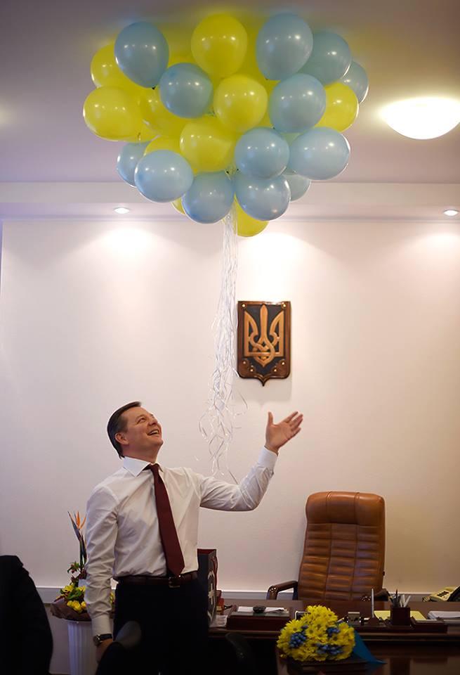 """Як """"мімішний"""" Ляшко радів кулькам і тортику - фото 2"""