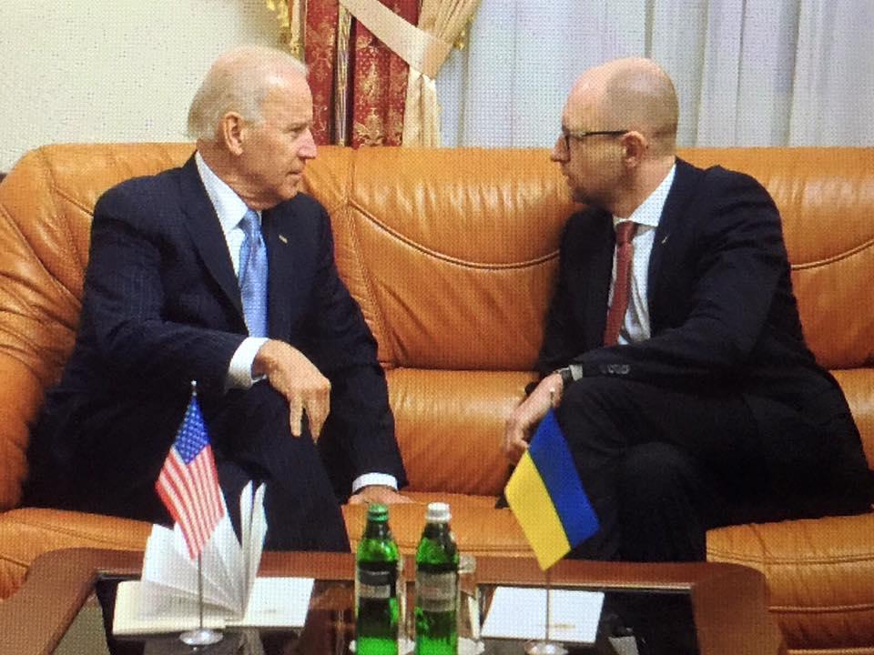 У Києві почалася зустріч Яценюка і Байдена - фото 1