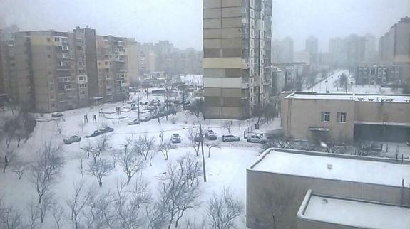 Як Київ замело снігом  - фото 4