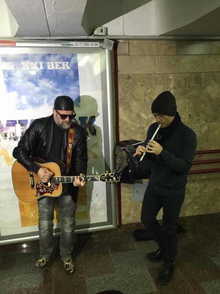 Гребенщиков влаштував концерт в мінському метро - фото 1