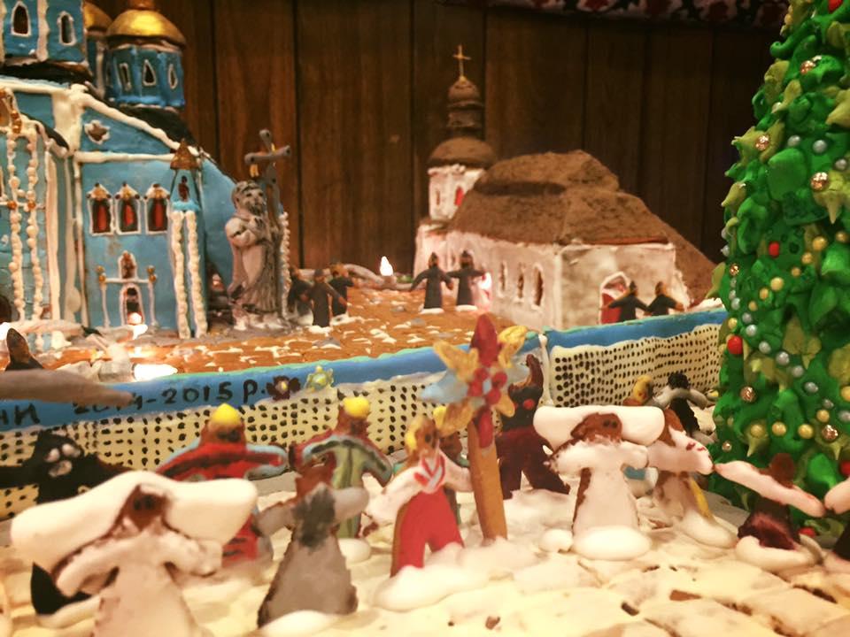 Дружина американського дипломата зробила Михайлівський собор з печива - фото 5