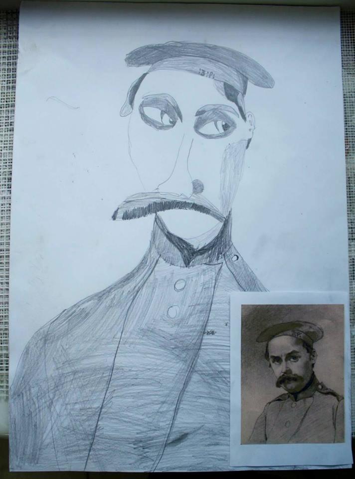 Шевченко очима дітей: як малеча кумедно малює Кобзаря  - фото 4