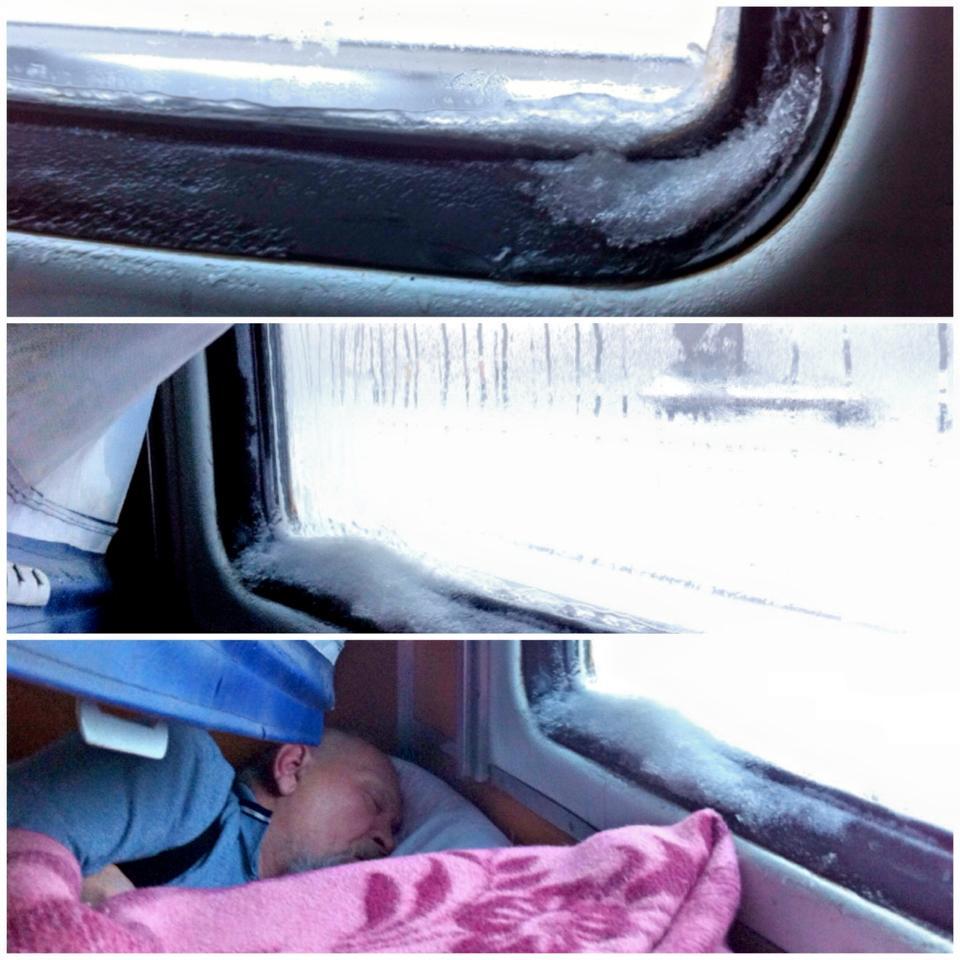 На Росії пасажирів у поїздах замітає снігом та затоплює (ФОТО) - фото 1