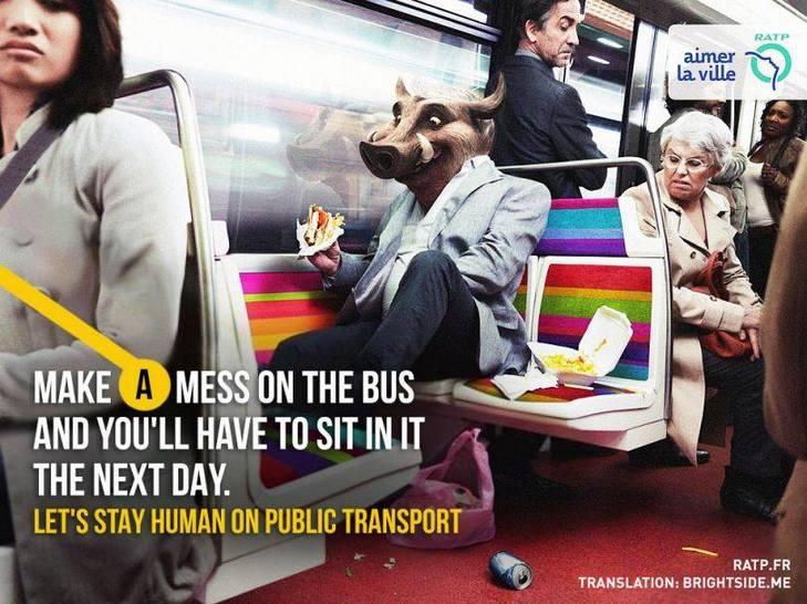 """Як парижан закликатимуть бути """"хомо сапієнс"""" в громадському транспорті - фото 5"""