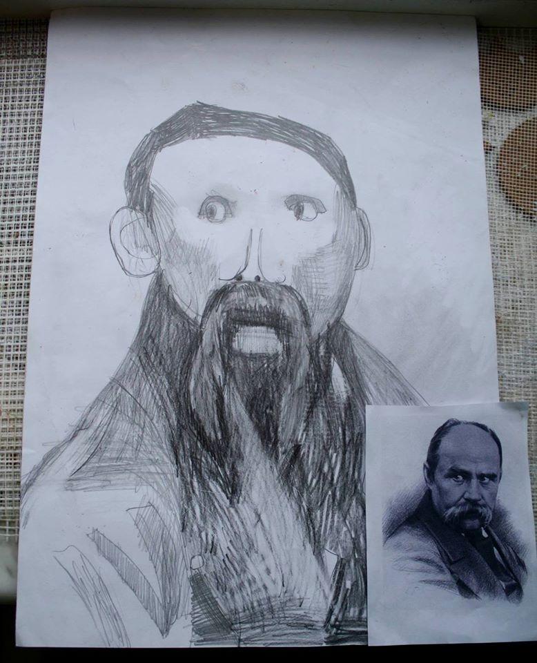 Шевченко очима дітей: як малеча кумедно малює Кобзаря  - фото 3