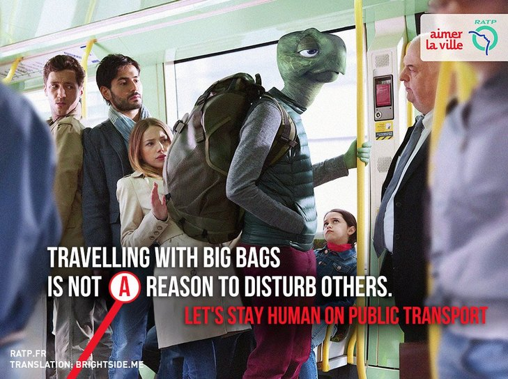 """Як парижан закликатимуть бути """"хомо сапієнс"""" в громадському транспорті - фото 4"""