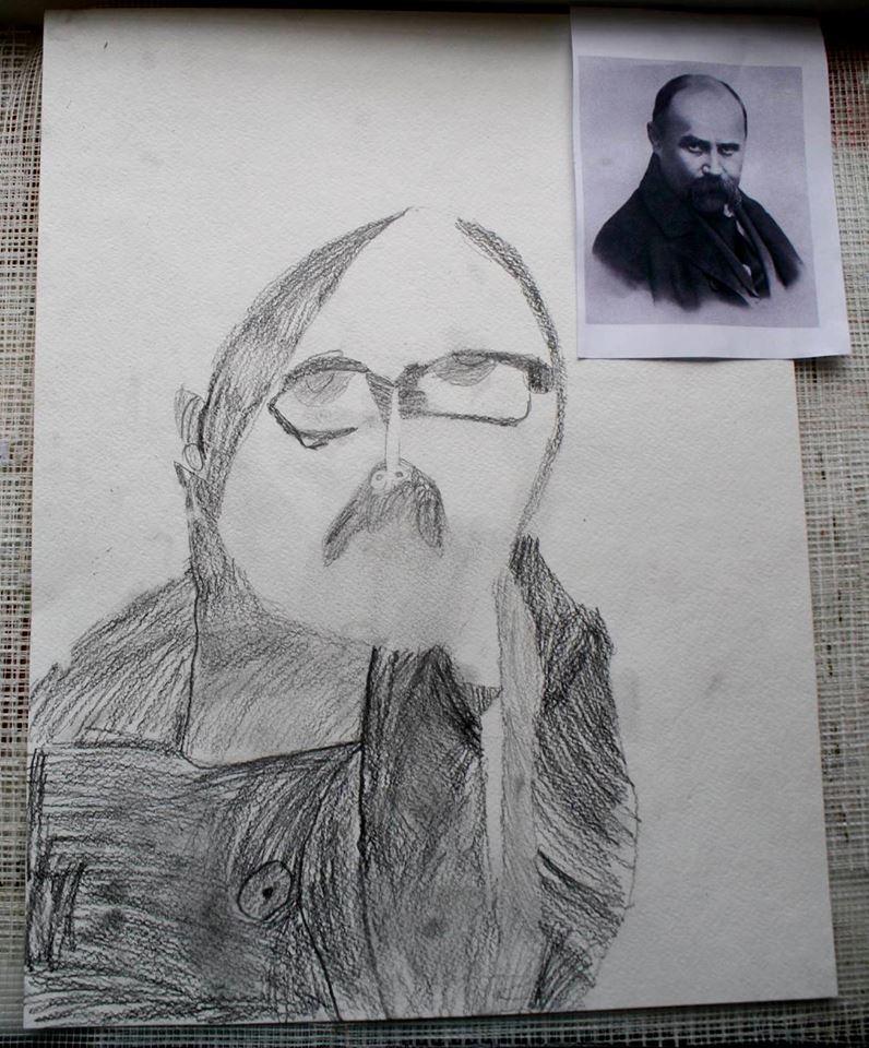 Шевченко очима дітей: як малеча кумедно малює Кобзаря  - фото 2