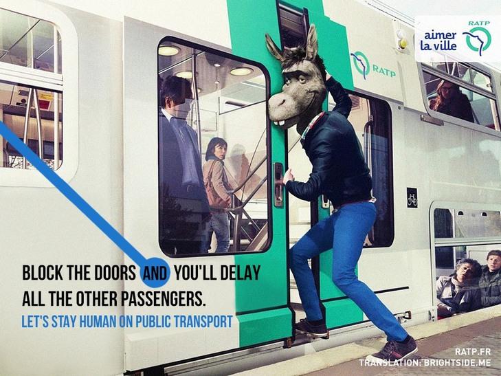"""Як парижан закликатимуть бути """"хомо сапієнс"""" в громадському транспорті - фото 1"""