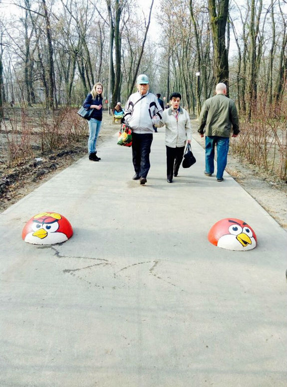 В одному з київських парків оселилися Angry Birds - фото 1