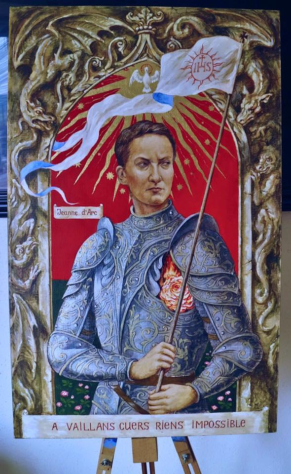 Художник зобразив Савченко в образі Жанни д'Арк - фото 1