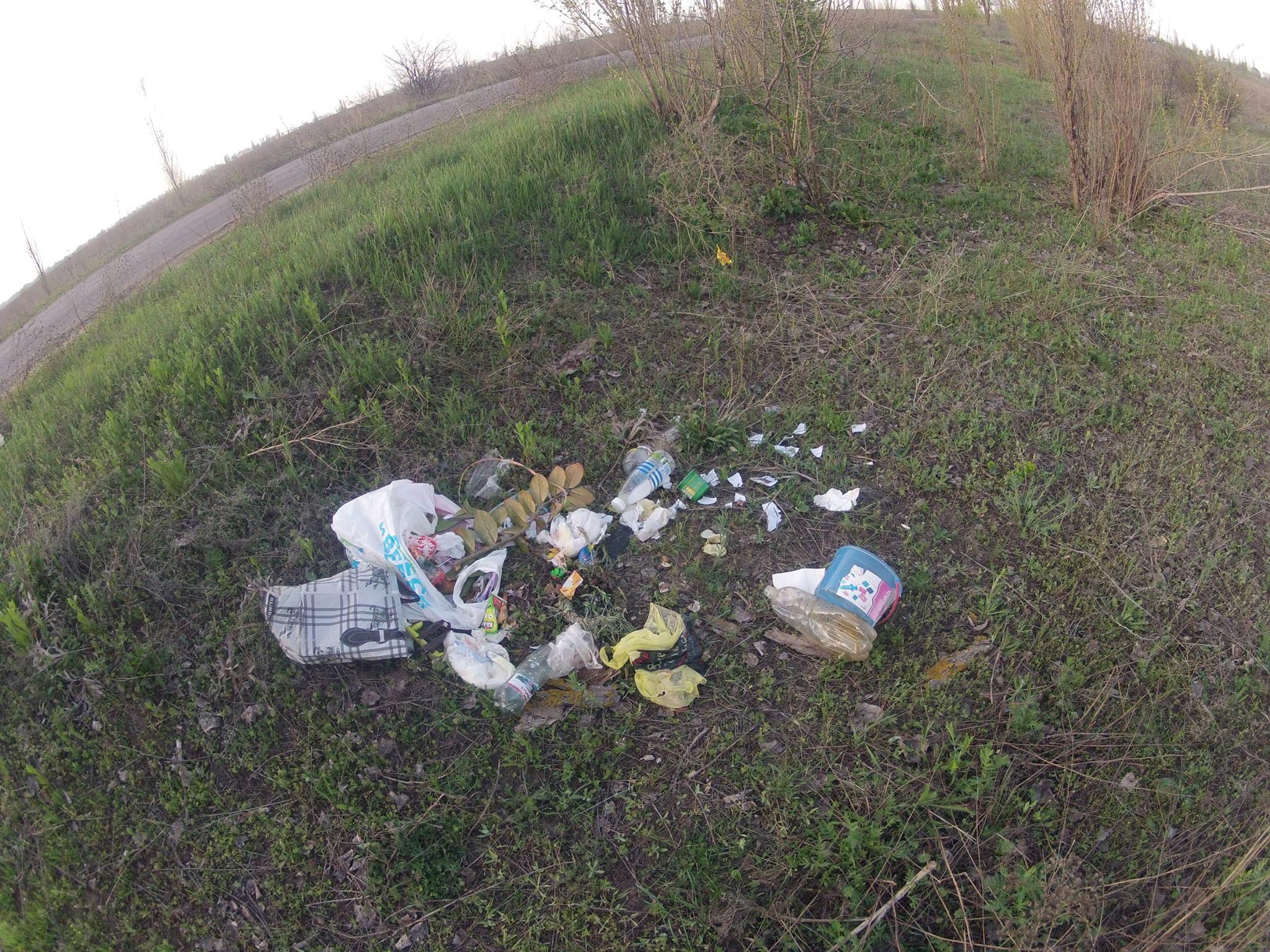 """""""Дякуємо за чисті узбіччя"""": миколаївець викинув памперси під дорогою"""