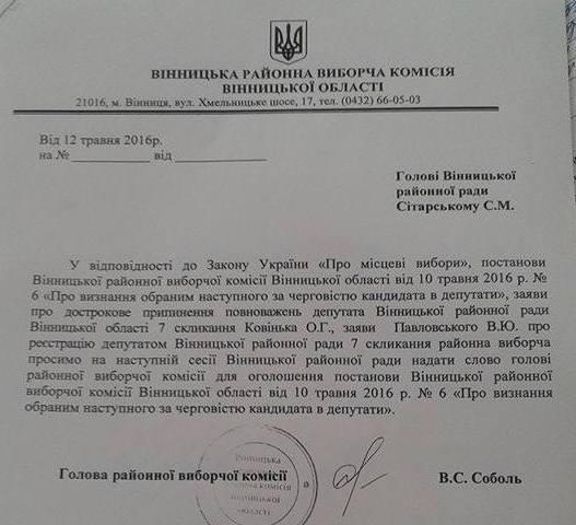 У Вінницькій райраді оголосили не того депутата - фото 4