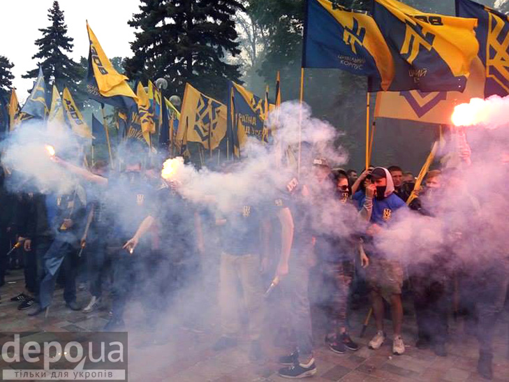"Полк ""Азов"" на марші до Ради (ФОТОРЕПОРТАЖ) - фото 11"