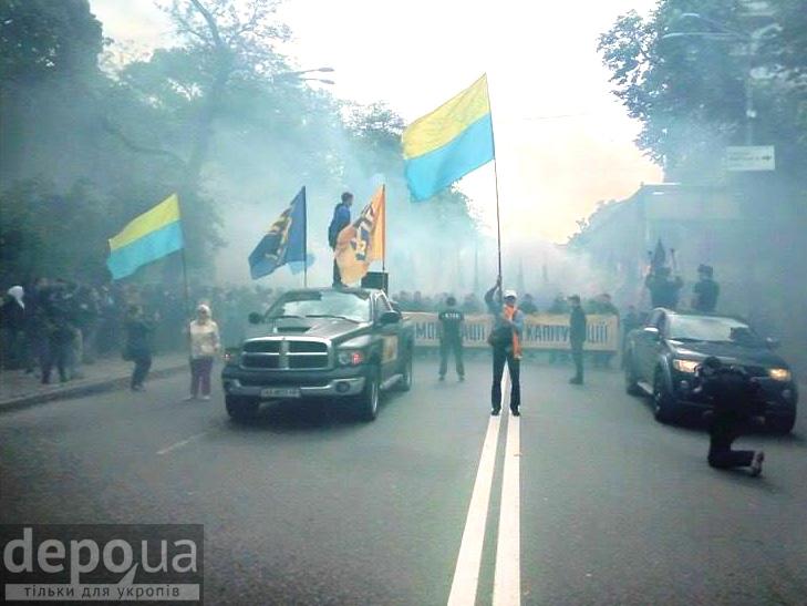 "Полк ""Азов"" на марші до Ради (ФОТОРЕПОРТАЖ) - фото 6"