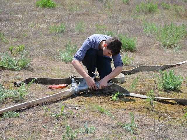 На Миколаївщині юні рятувальники боролися з вогнем на навченнях - фото 2