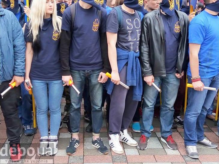 "Полк ""Азов"" на марші до Ради (ФОТОРЕПОРТАЖ) - фото 17"