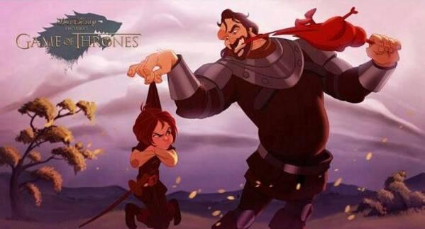 """Як виглядають персонажі з """"Гри престолів"""" у виконанні Діснея - фото 8"""