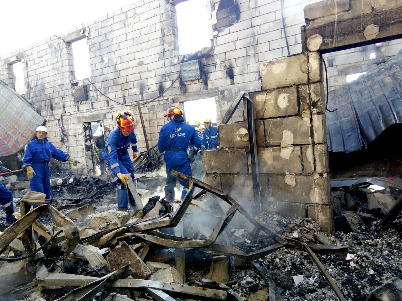 З'явилось відео наслідків пожежі у будинку пристарілих під Києвом - фото 1