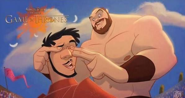 """Як виглядають персонажі з """"Гри престолів"""" у виконанні Діснея - фото 5"""