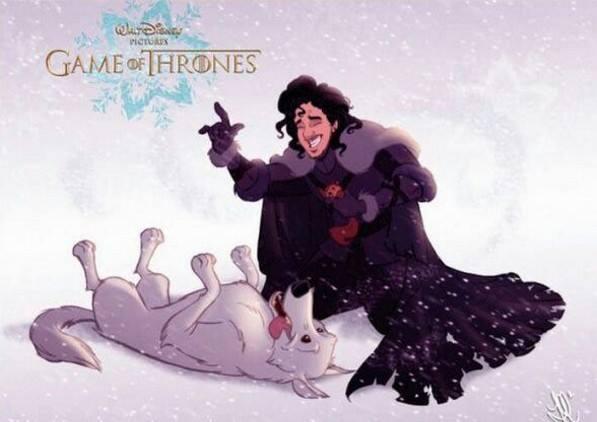"""Як виглядають персонажі з """"Гри престолів"""" у виконанні Діснея - фото 4"""