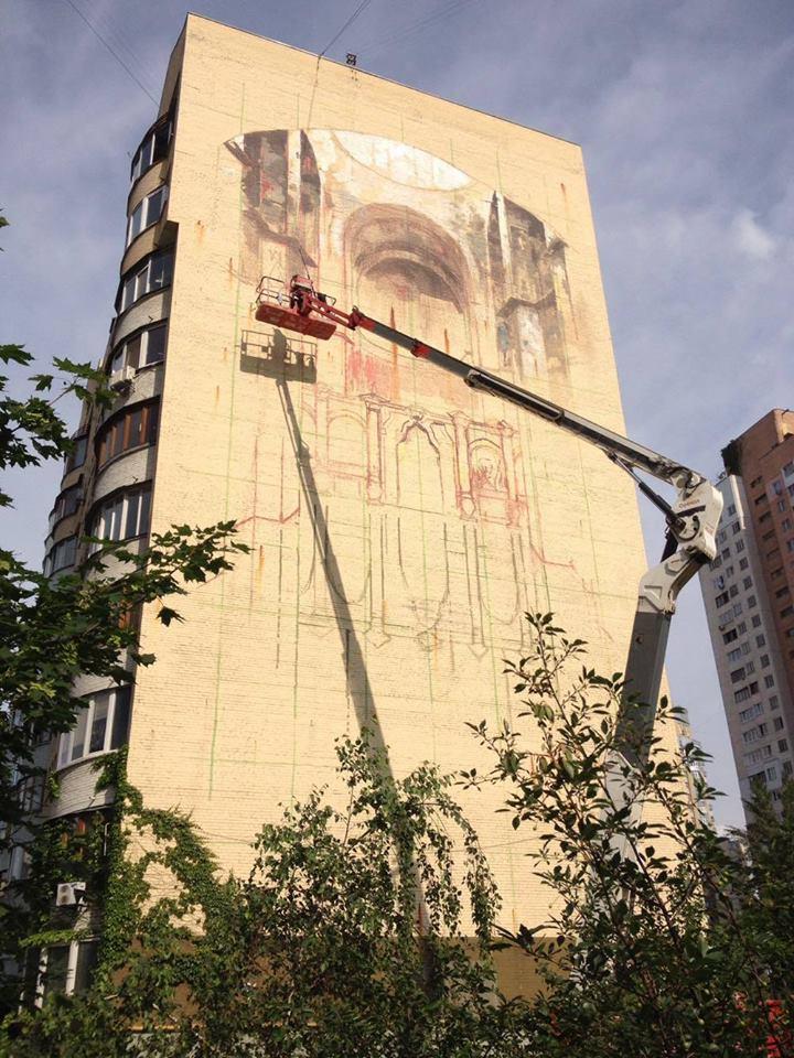 Відомий іспанський митець Гонзало Борондо створив свою Софію на Оболоні - фото 4