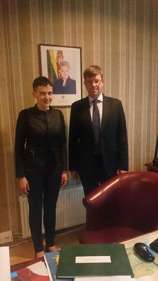 Савченко подякувала Грибаускайте - фото 2