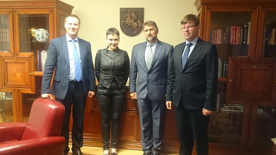 Савченко подякувала Грибаускайте - фото 1