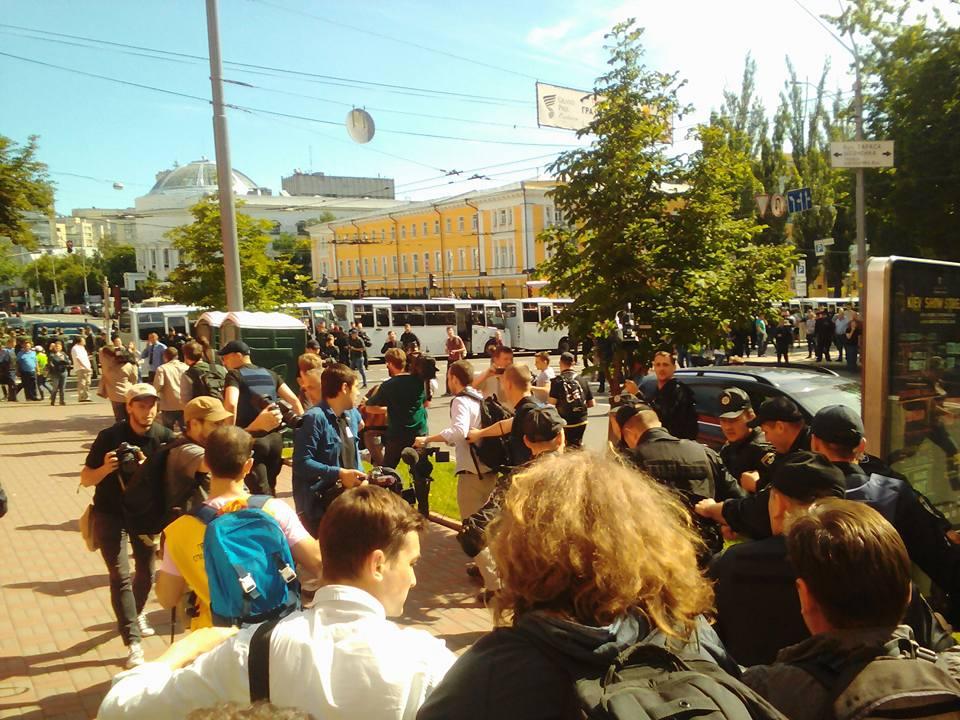 У Києві поліція вже затримала першого провокатора на місці збору марша рівності (ФОТО) - фото 1