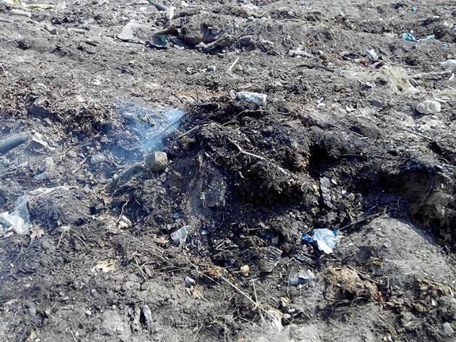 Миколаївське сміттєзвалище могло загорітися через необережне поводження з огнем