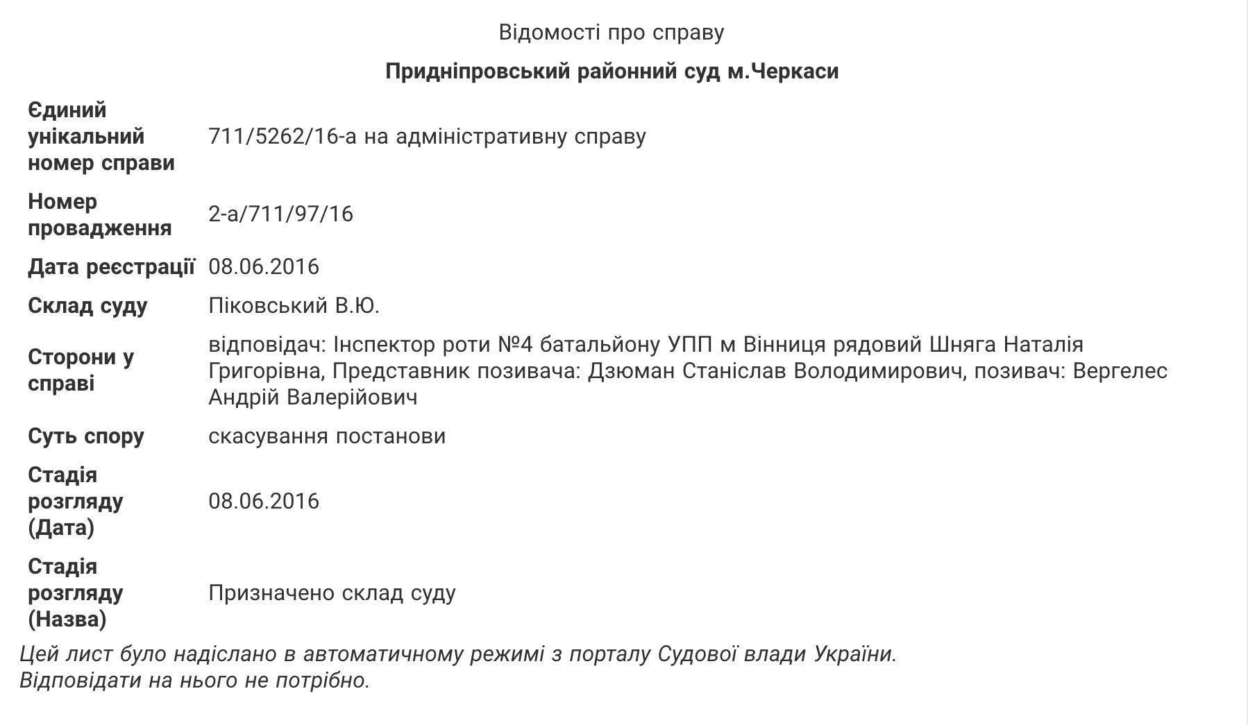 """Вінницький суддя-розбишака подав в суд на """"копів"""" - фото 1"""