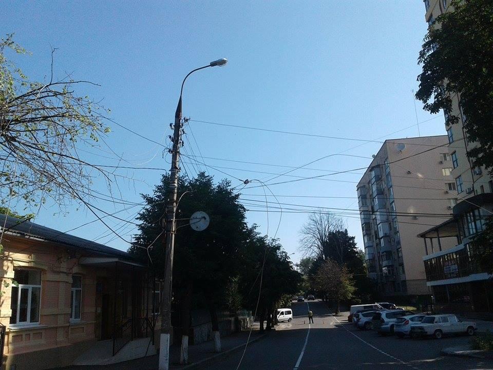 В центрі Вінниці дерево пообривало лінії електропередач - фото 2