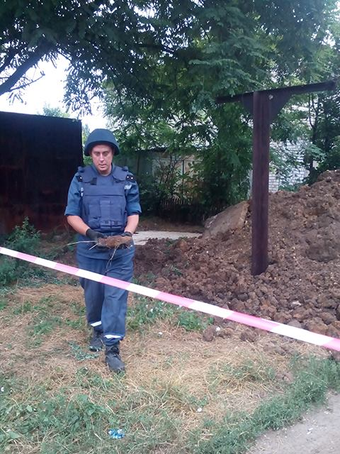 На Миколаївщині рятувальникі підірвали артснаряд - фото 1