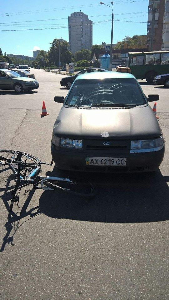 На Салтівці таксис збив парубка на велосипеді - фото 1