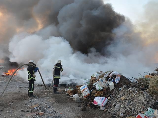 На Миколаївщині знов палало стихійне сміттєзвалище - фото 6