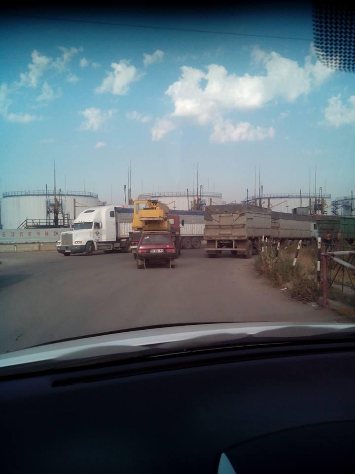 У Миколаїв, попри заборону руху фур, продовжують їхати зерновози - фото 1