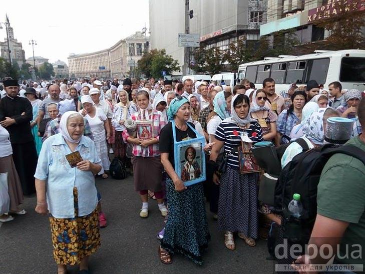 Гундяєвські ходоки в центрі Києва (ФОТОРЕПОРТАЖ) - фото 7