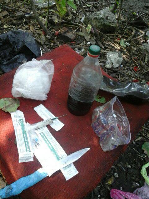 На Салтівці в лісосмузі варили наркотики з макового насіння - фото 2