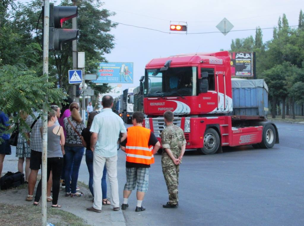 Миколаївські активісти перекривали пр. Богоявленський, який вбивають фури