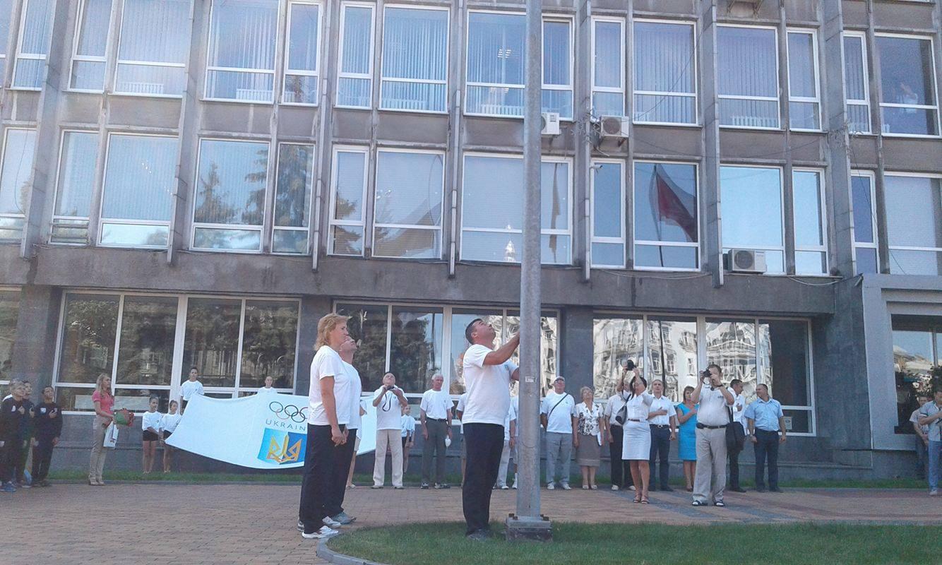 У Вінниці підняли Олімпійський прапор - фото 1