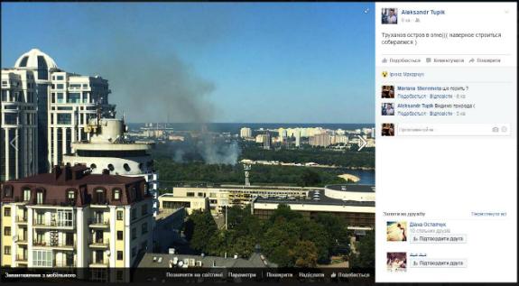 У Києві горить Труханів острів - фото 1